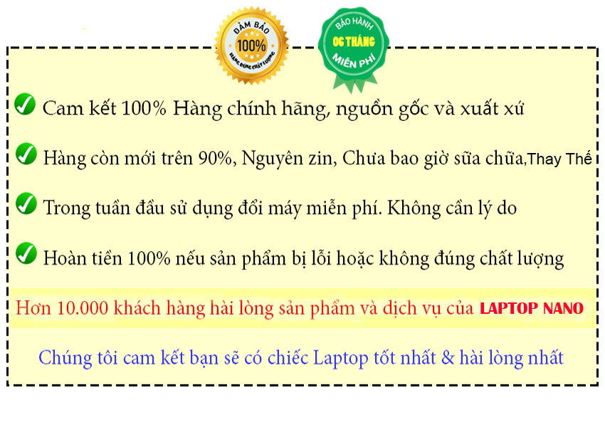 CAM KẾT VỚI KHÁCH HÀNG