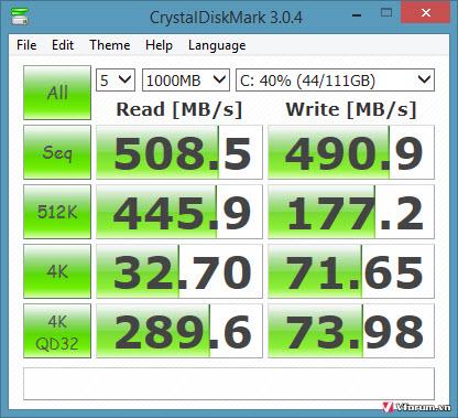 Crystal Disk Mark phần mềm test tốc độ ổ cứng ssd và hdd