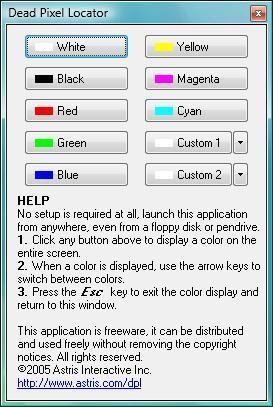 Dead Pixel Locator test điểm chết màn hình